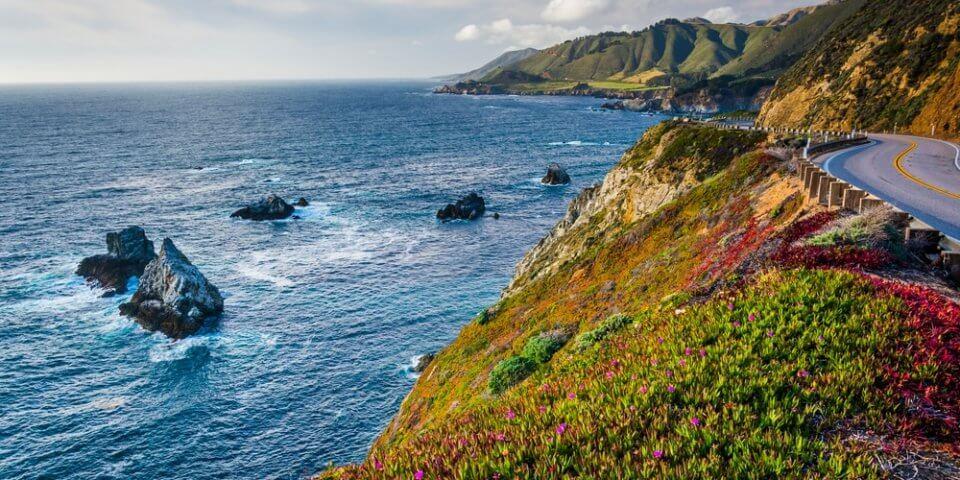 The Big Sur Coastline in Northern California is breathtaking.