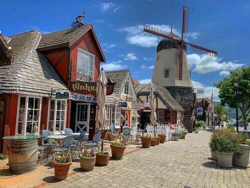 Visiting Solvang Danish Village is one of the many free things to do in California