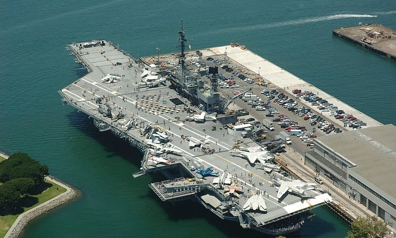USS Midway Museum from above.