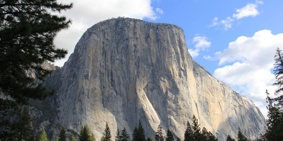 El Capitan in Yosemite National Park stands tall in California.