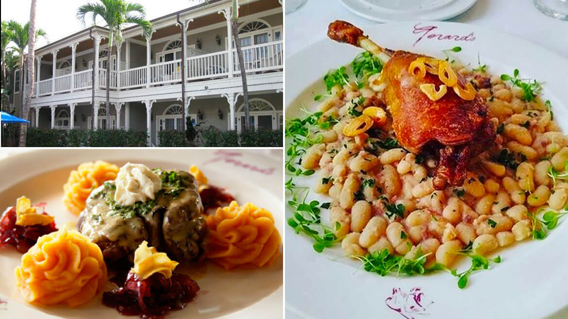 amazing french dishes at Gerard's restaurant maui