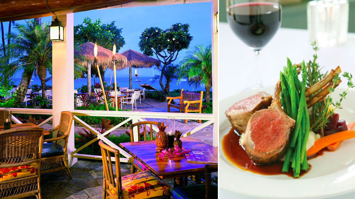 Top tier dining at lahaina grill on maui