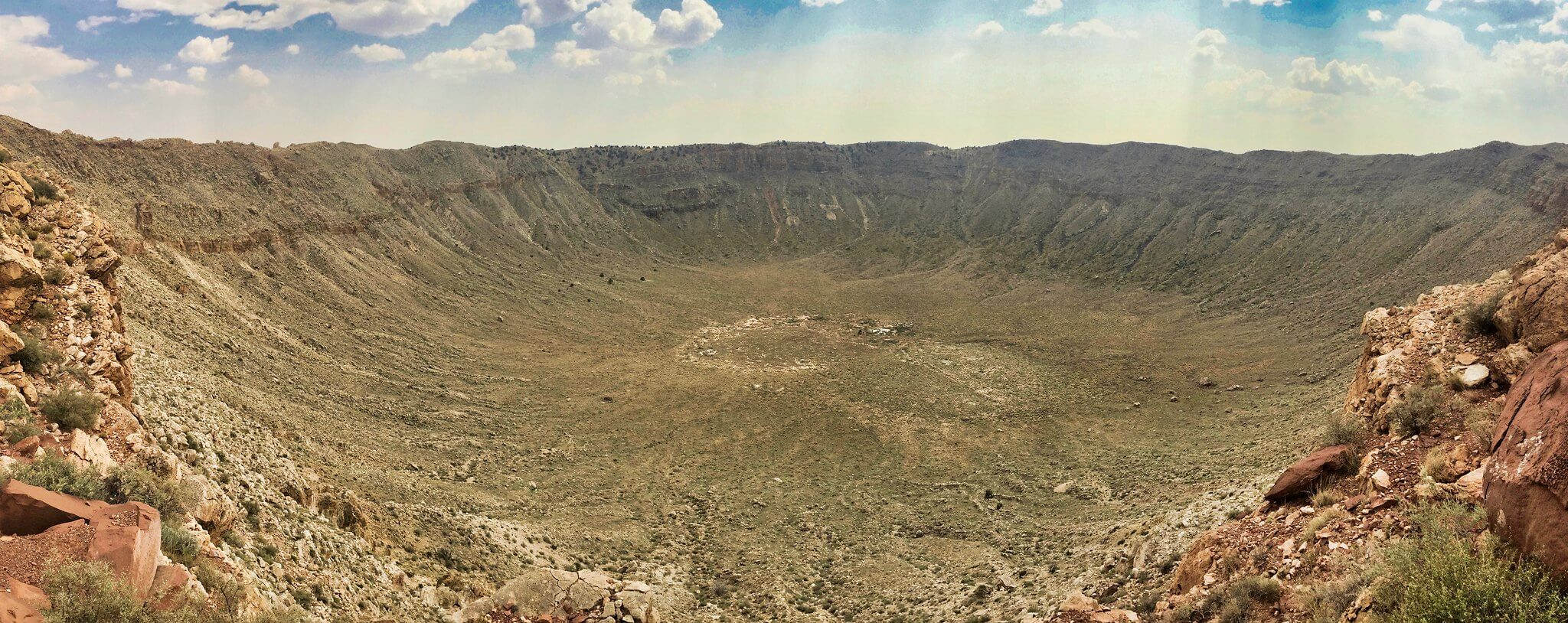 Barringer Crater, also known as Meteor Crater, near Winslow, Arizona.