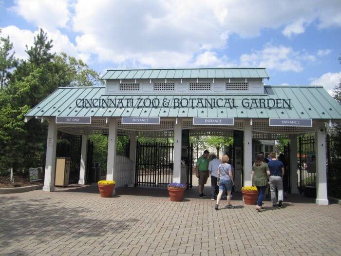 incinnati Zoo & Botanical Garden Entrance