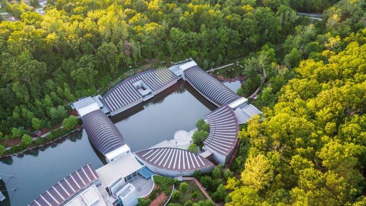 Crystal Bridges Museum of American Art Aerial View
