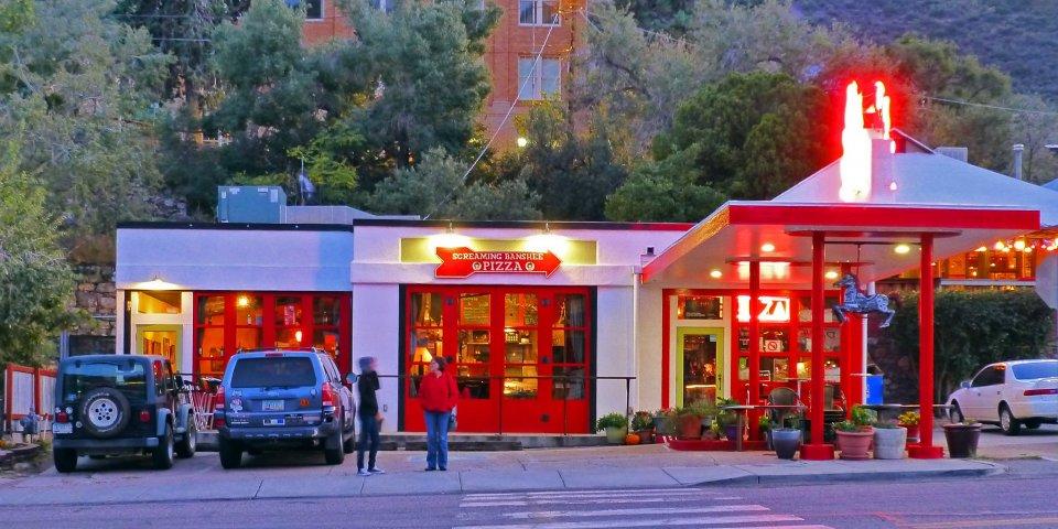 Screaming Banshee Pizza in Bisbee, Arizona.