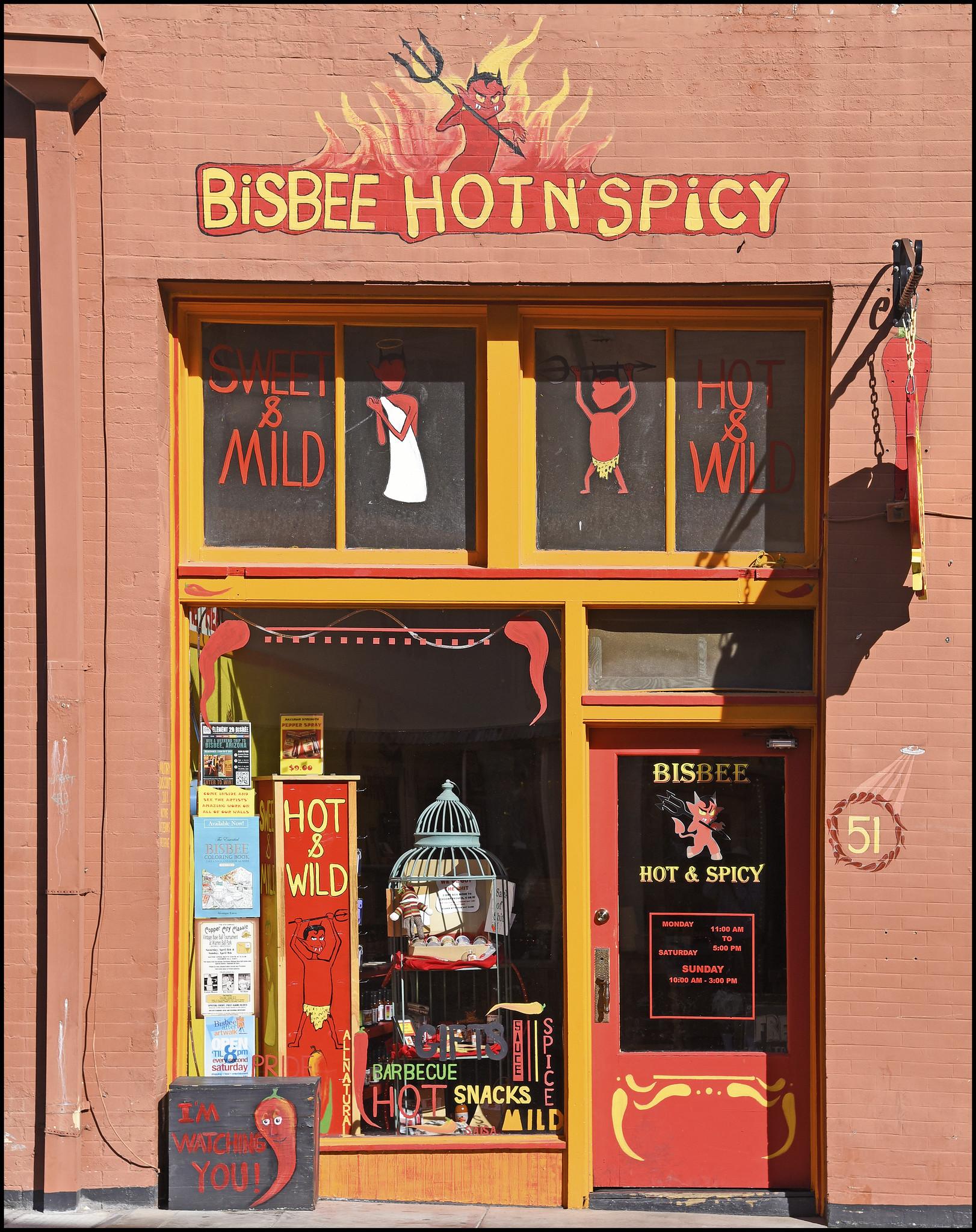 Bisbee Hot N' Spicy storefront.