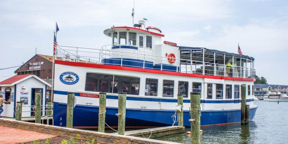 Patriot Cruises Narrated Historical Cruises. Escape to St. Michaels on the Eastern Shore of Maryland.