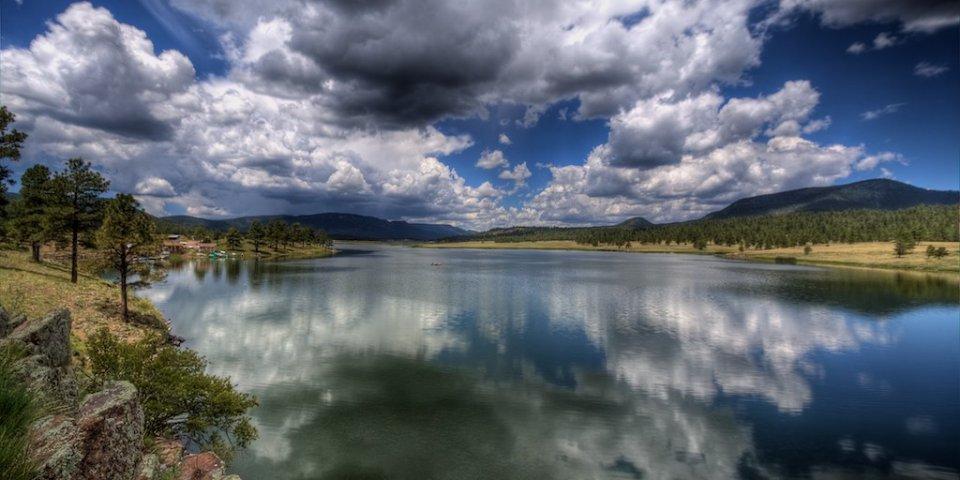 Luna Lake in Alpine, Arizona. It is one of the few natural lakes in Arizona.