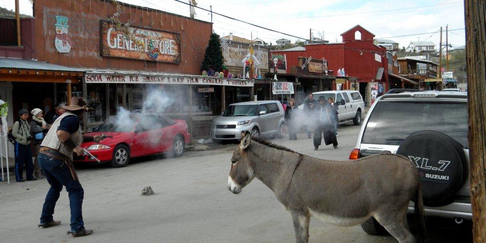 Wild West Show in Oatman, Arizona.