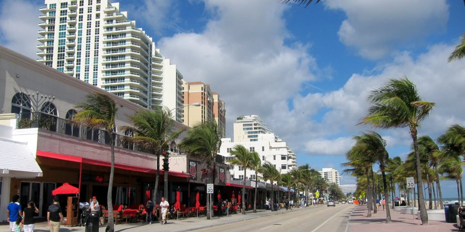 The beachfront Promenade is one of the absolute best things to do in Fort Lauderdale.