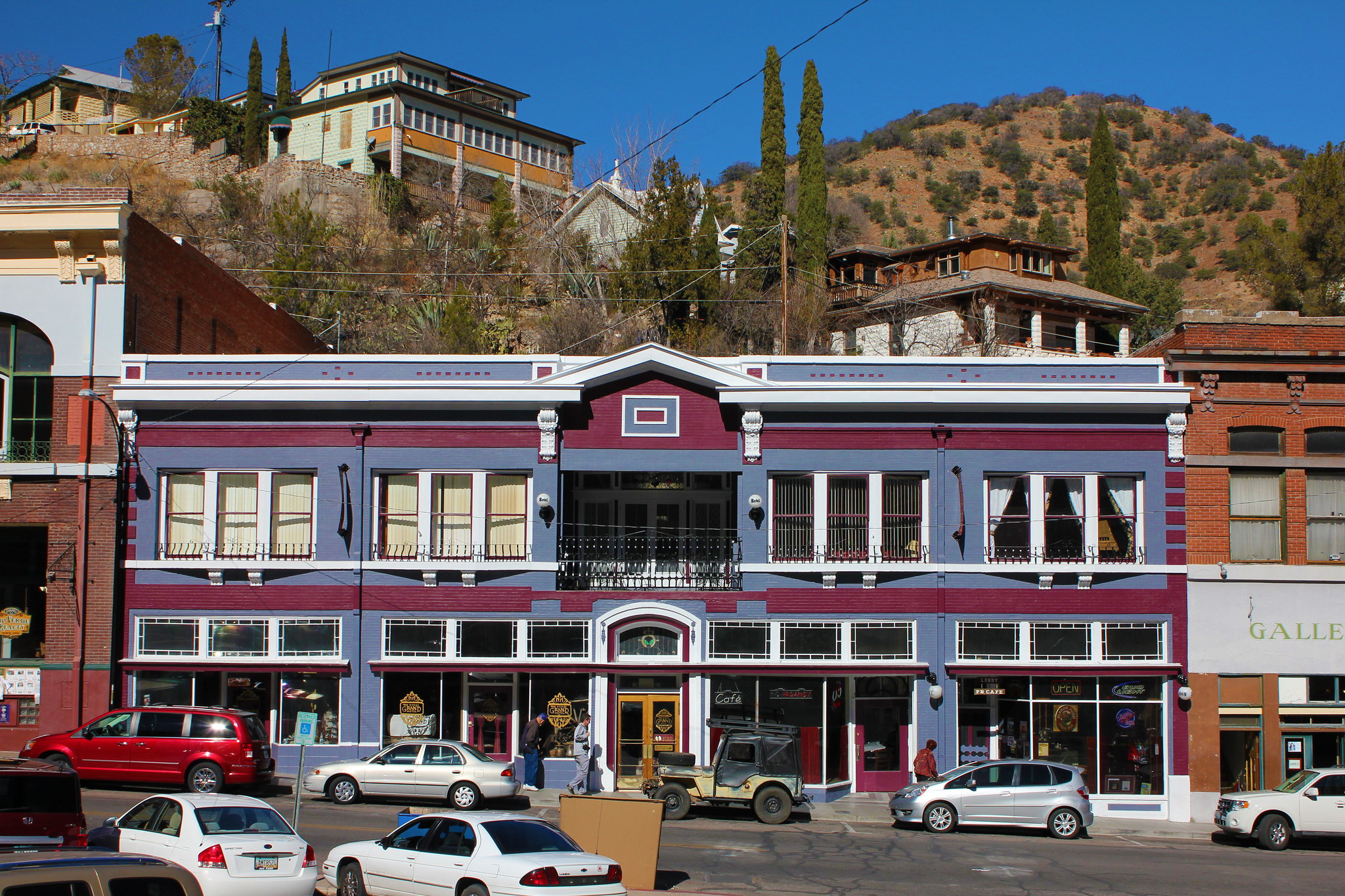 Outside of the Bisbee Grand Hotel.