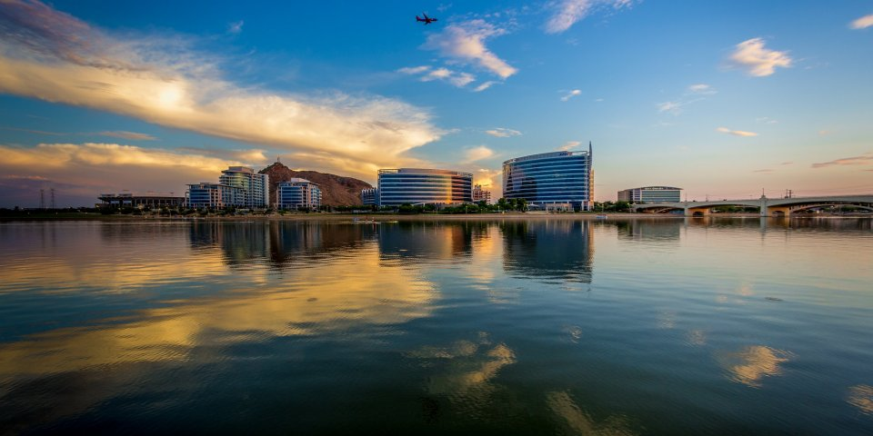 Tempe Town Lake is one of the most popular lakes in Arizona.