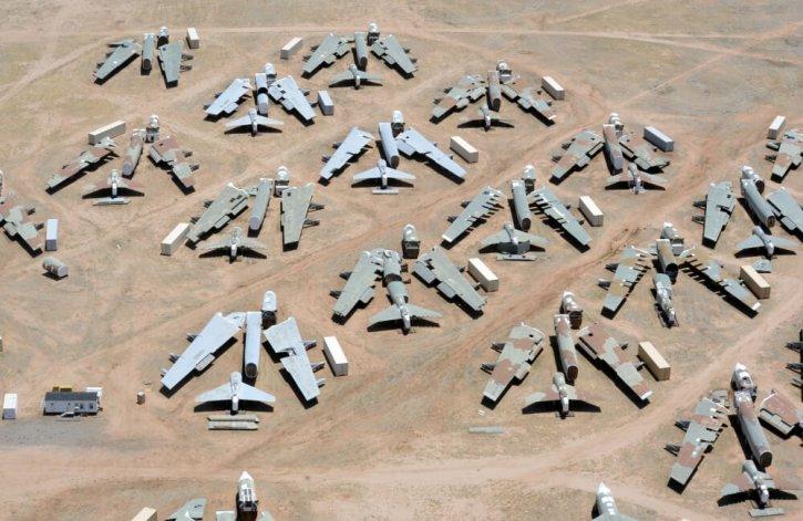 Davis-Monthan Air Force Boneyard Where Airplanes Go