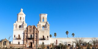 Mission San Xavier Del Bac in Arizona Is the White Dove of the Desert