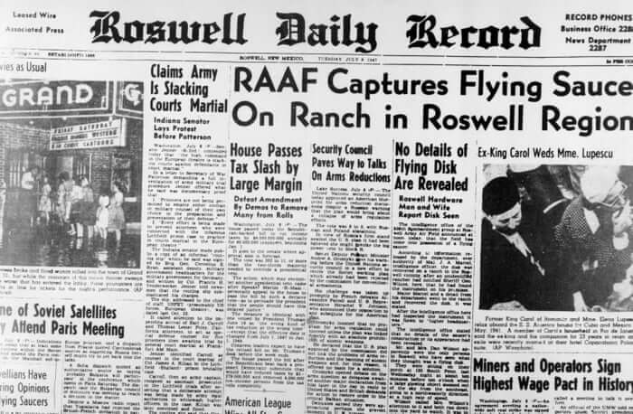 Roswell Crash Roswell Daily Record