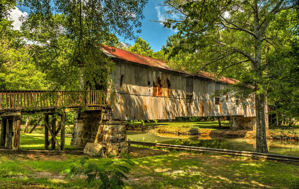 Kymulga Grist Mill and Covered Bridge, Alabama