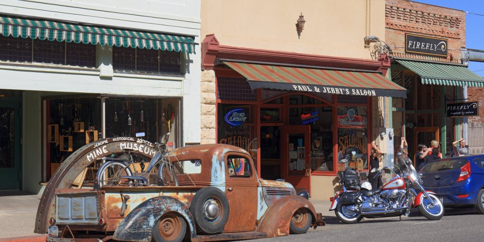 Shops in Jerome, Arizona.