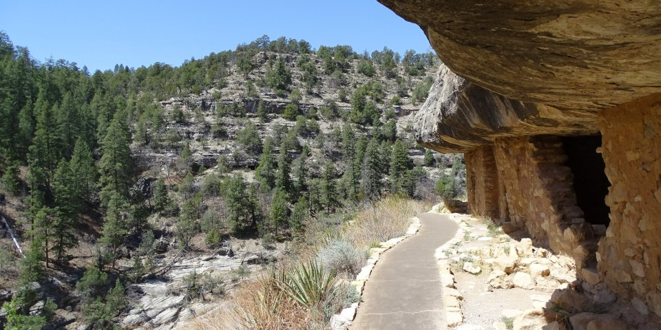 The Walnut Canyon National Monument is one of the national parks in Arizona still open during the coronavirus.
