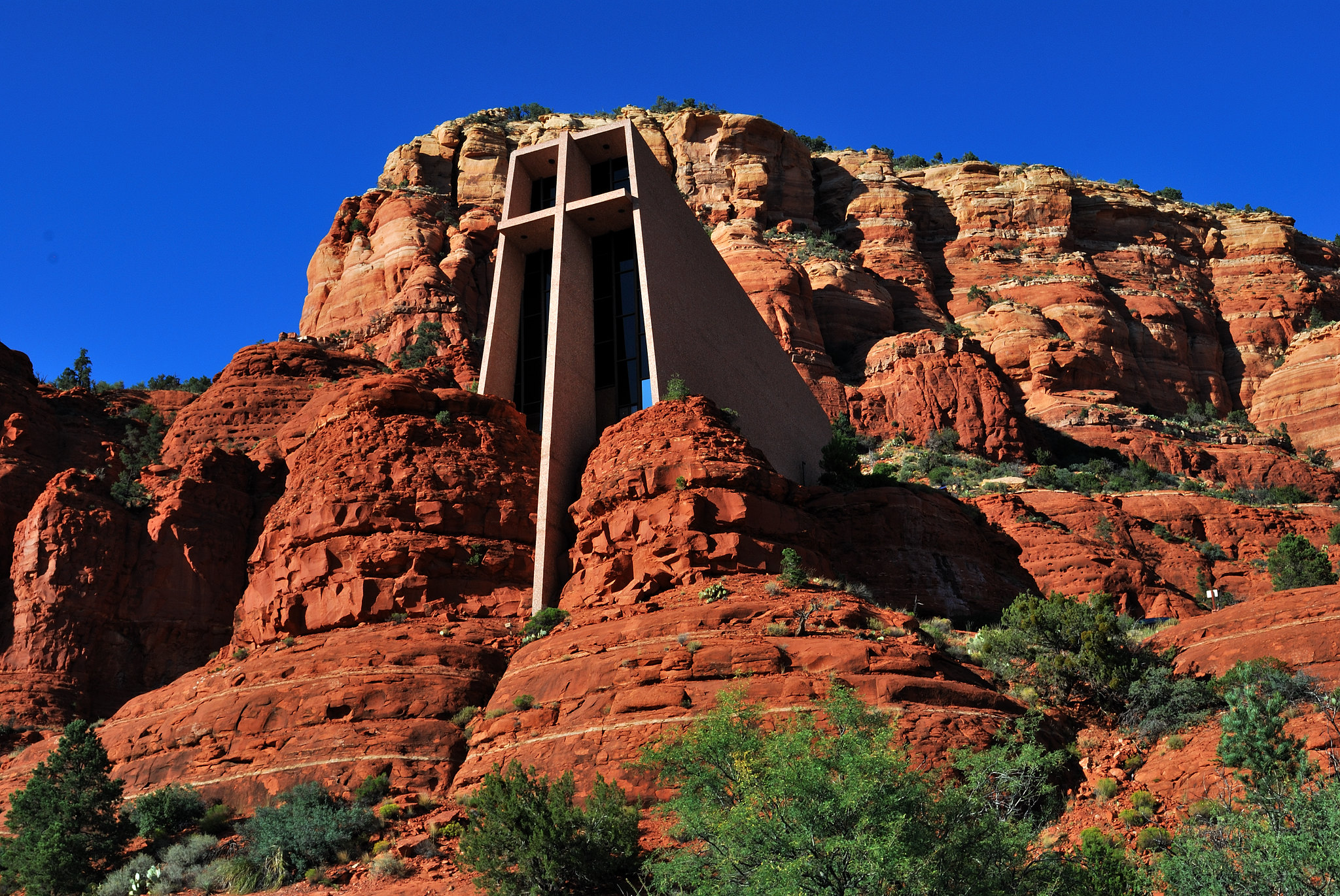 The Chapel of the Holy Cross is a peaceful beacon in Sedona.