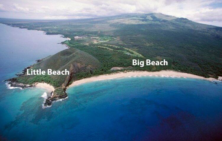 big beach little beach maui hawaii