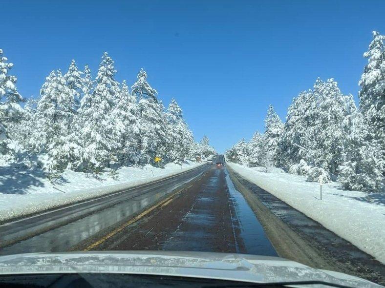 Arizona State Route 77 Winter