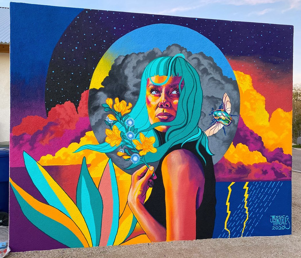 Beauty of Monsoon Season murals in Downtown Tucson