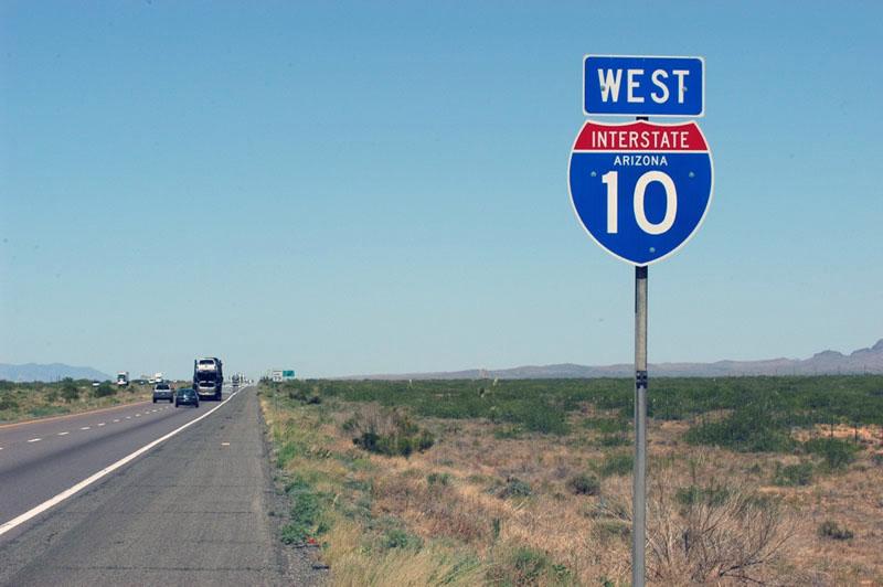 I10 Arizona Highway Marker