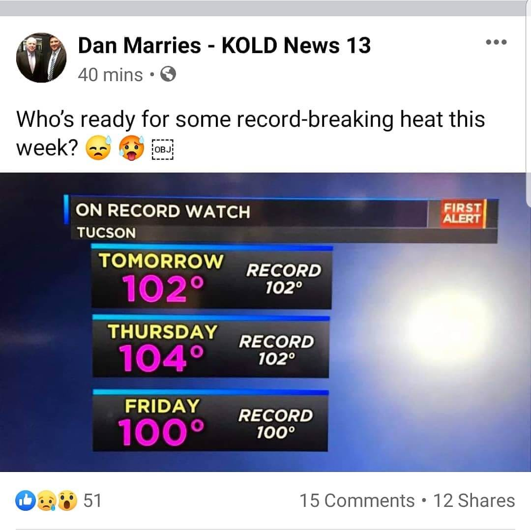 Arizona Heat Temperature Hot