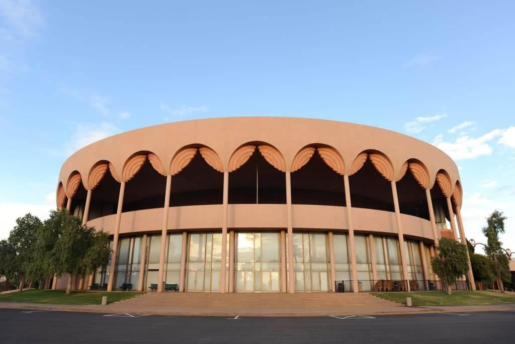 Gammage Auditorium Arizona State University Frank lloyd wright buildings in arizona