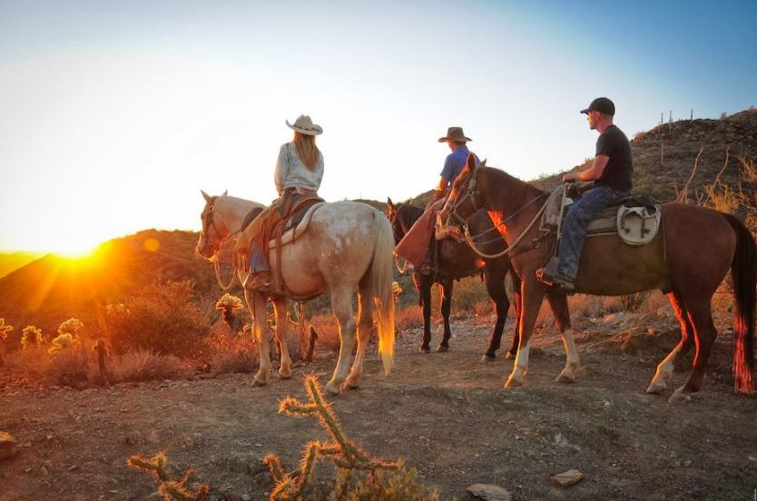 Sunset horseback ride az
