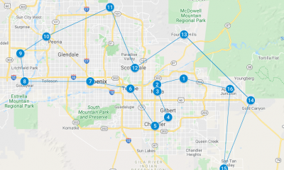 VE Day Flyover Map Arizona