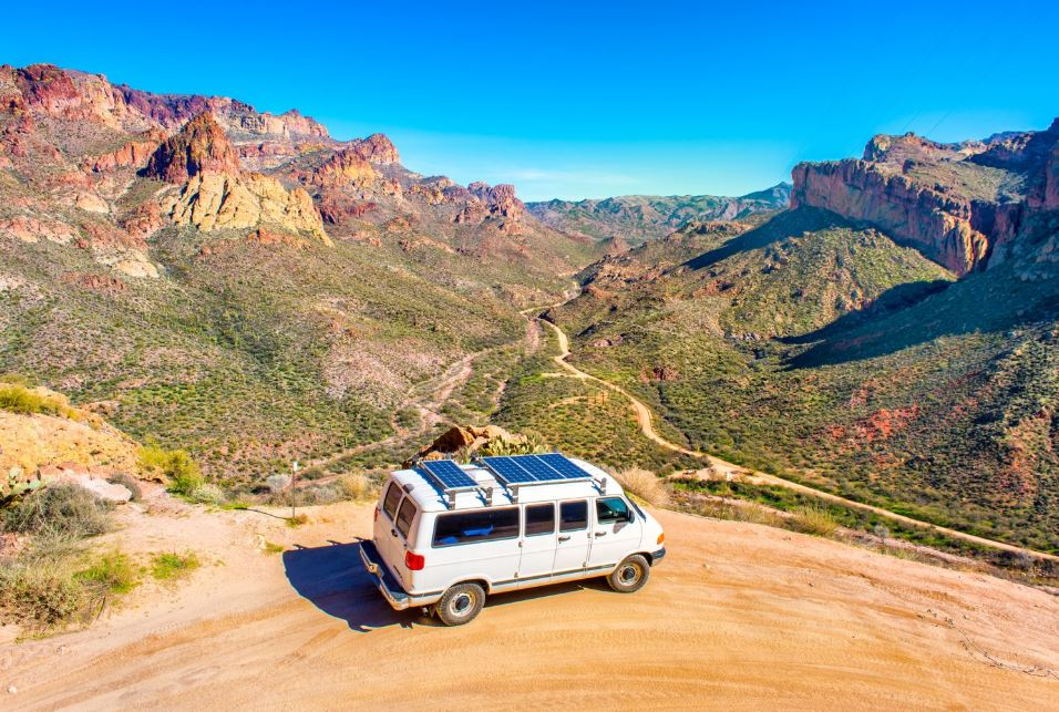 Apache Trail Scenic Drive View arizona