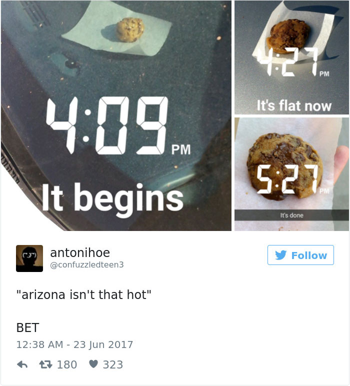 Baked Cookies Arizona Heat things melting in arizona