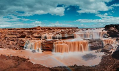 Grand Falls Arizona cool waterfall