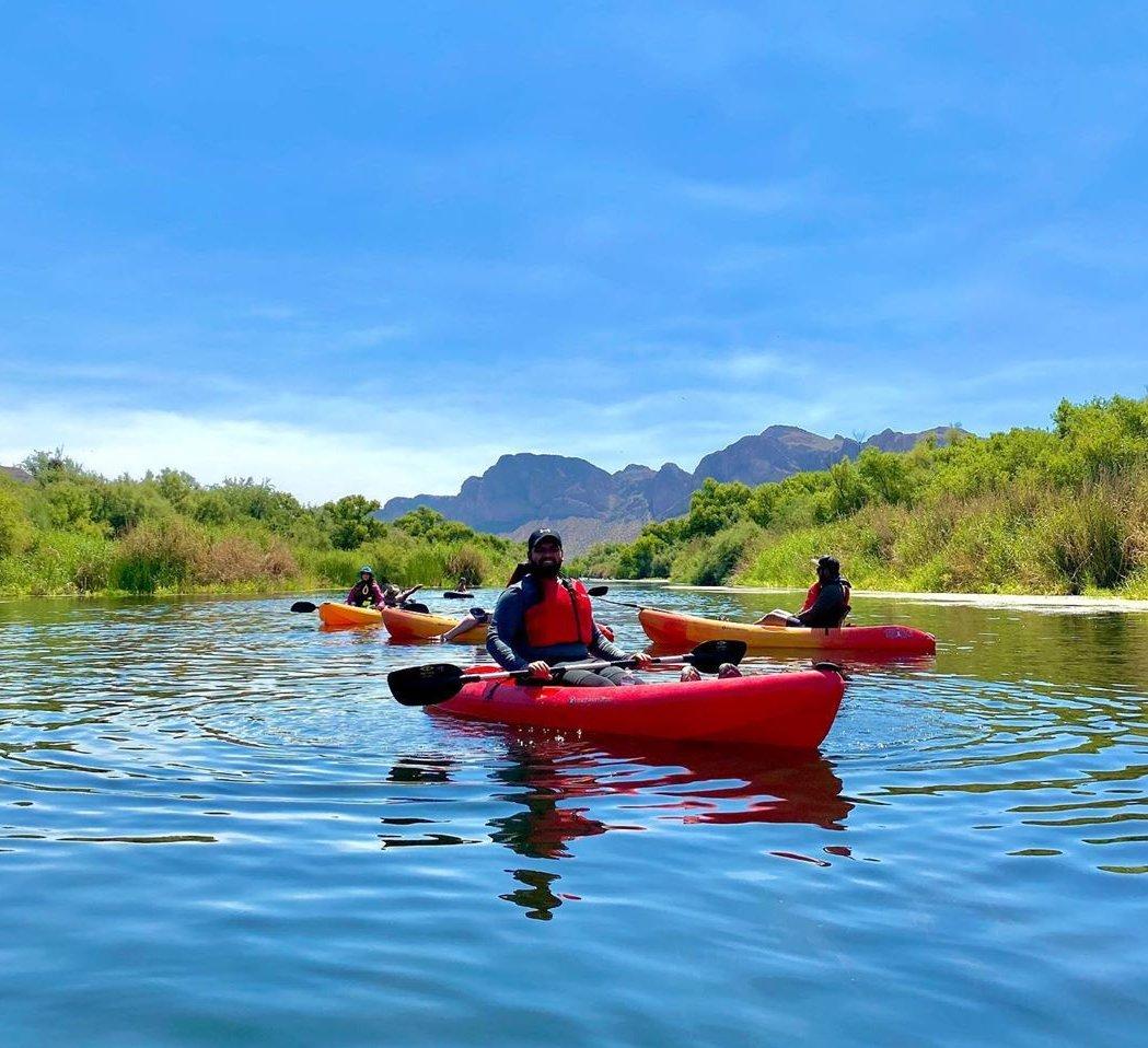 Kayaking Saguaro Lake az