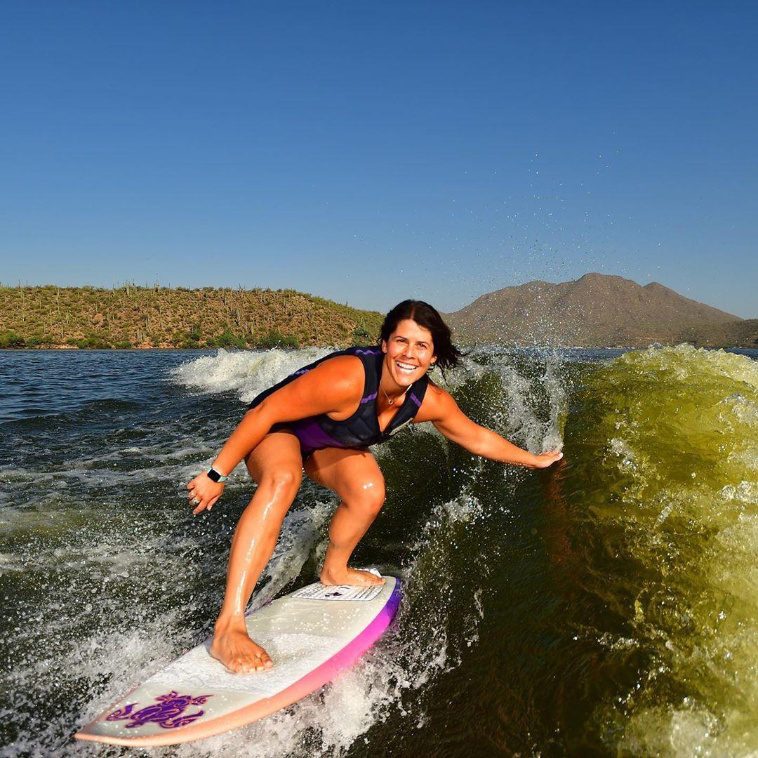 Wakesurfing in Arizona Fun