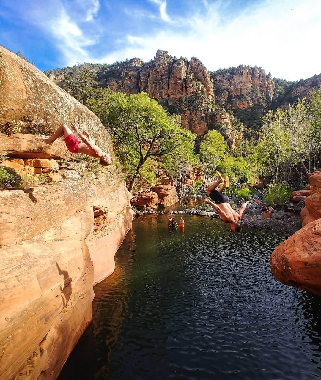 cliff jump arizona cool tricks