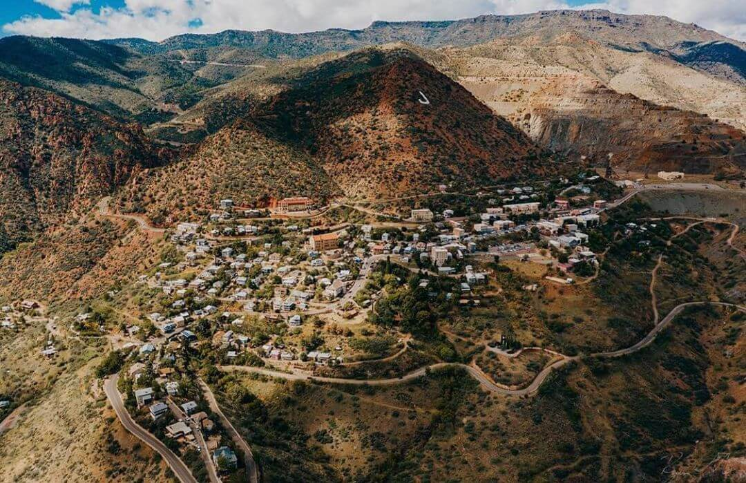 jerome az charming towns in arizona aerial view