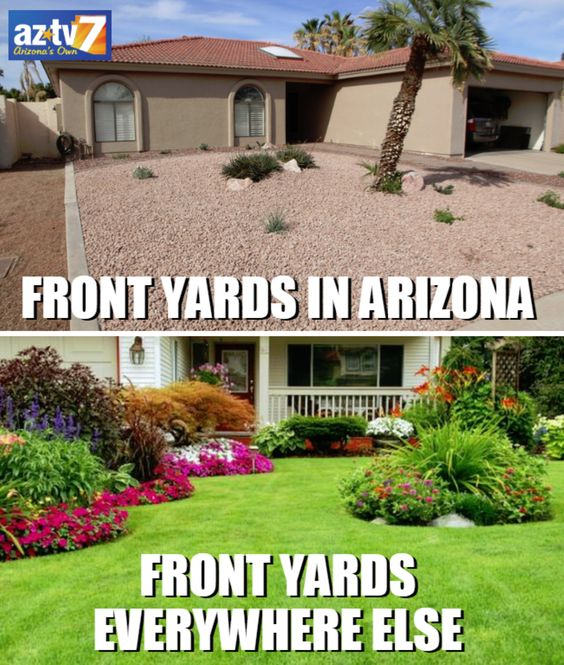 Front Yards in Arizona