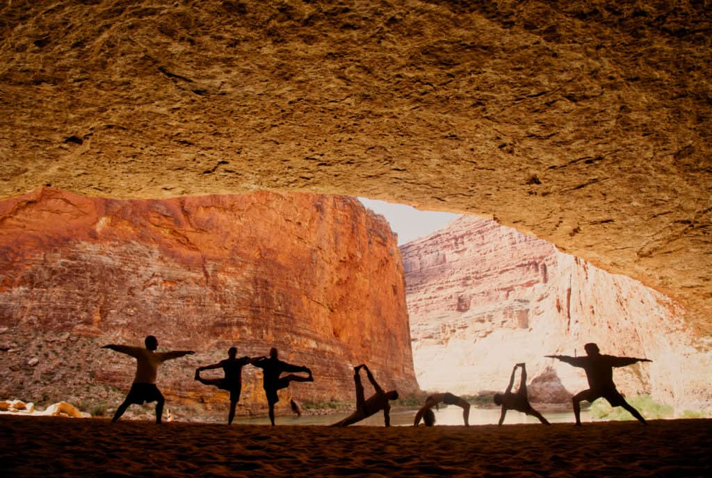 Group Yoga in the Grand Canyon