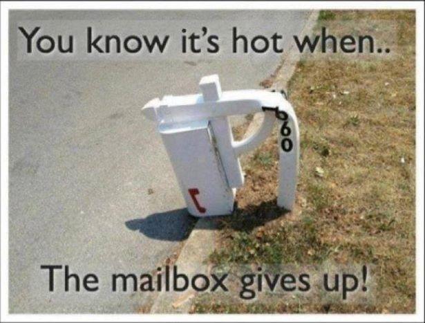 Mailbox melting in arizona
