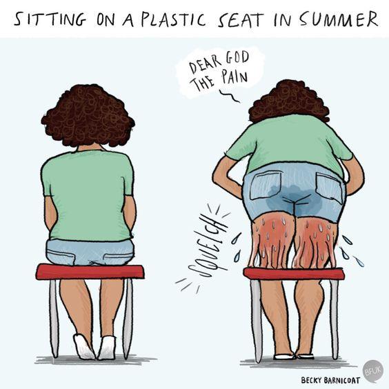Plastic Seat in Summer best Arizona summer memes