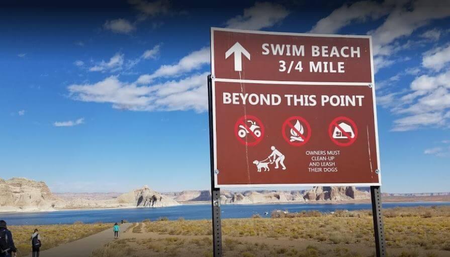 Swimming in Arizona Beach