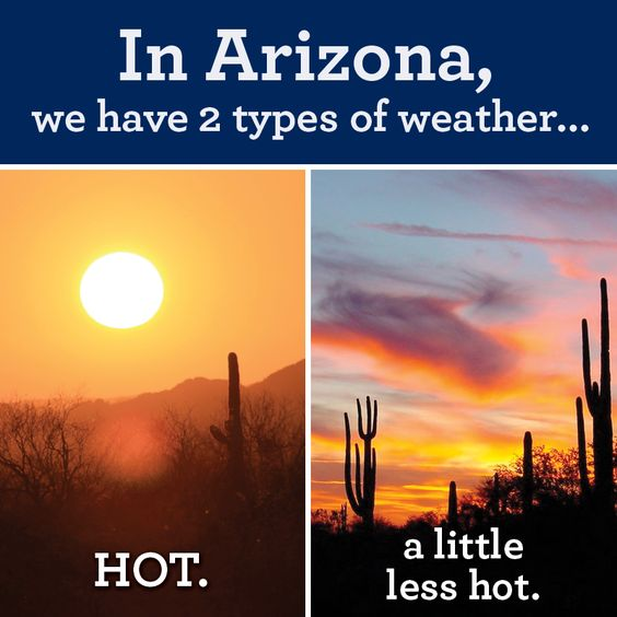 Two Types of Weather in Arizona