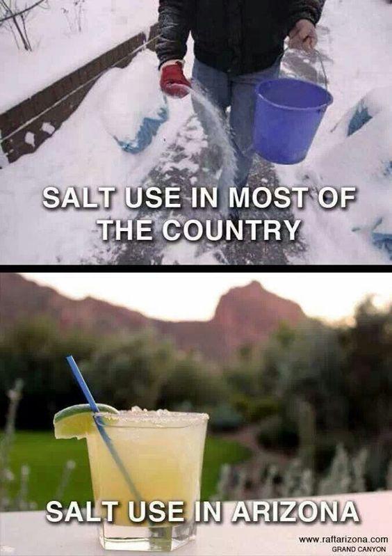 Use of Salt in Arizona Best Arizona Summer Memes