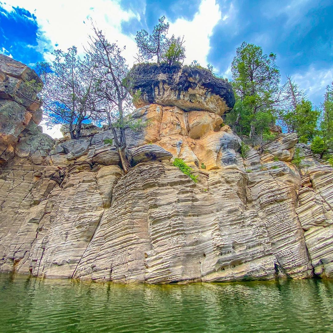 geologic features Blue Ridge Reservoir in Arizona