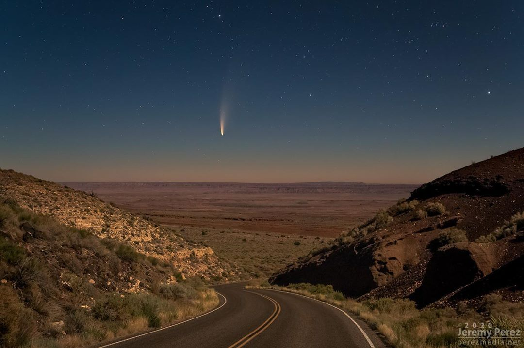 where to see NEOWISE comet in Arizona Wupatki National Monument