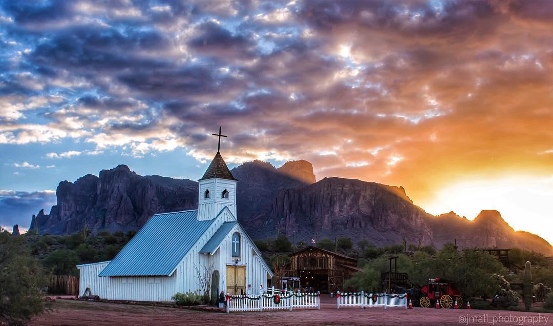 Elvis Memorial Chapel Superstition Mountains az