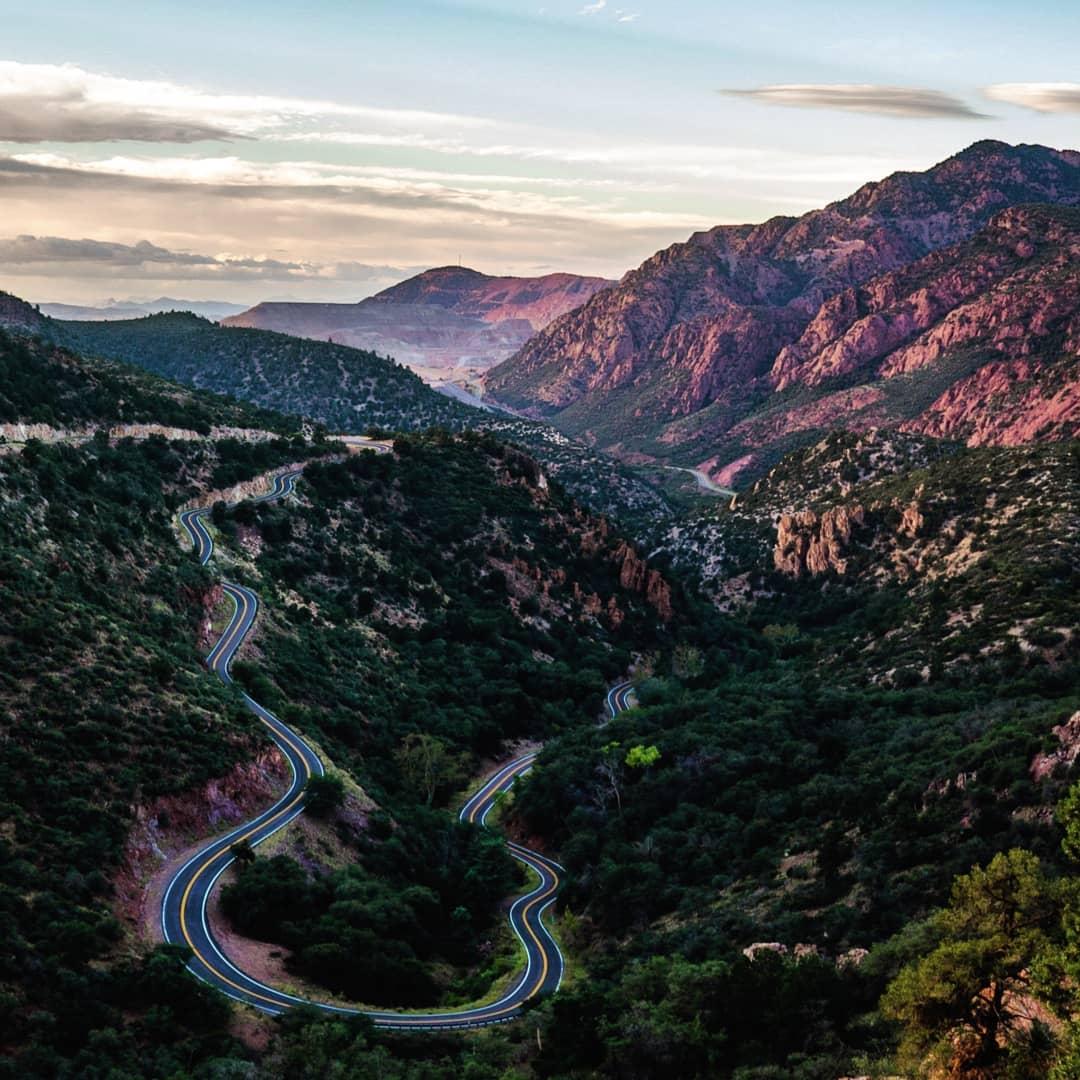 Scary Arizona Road photo